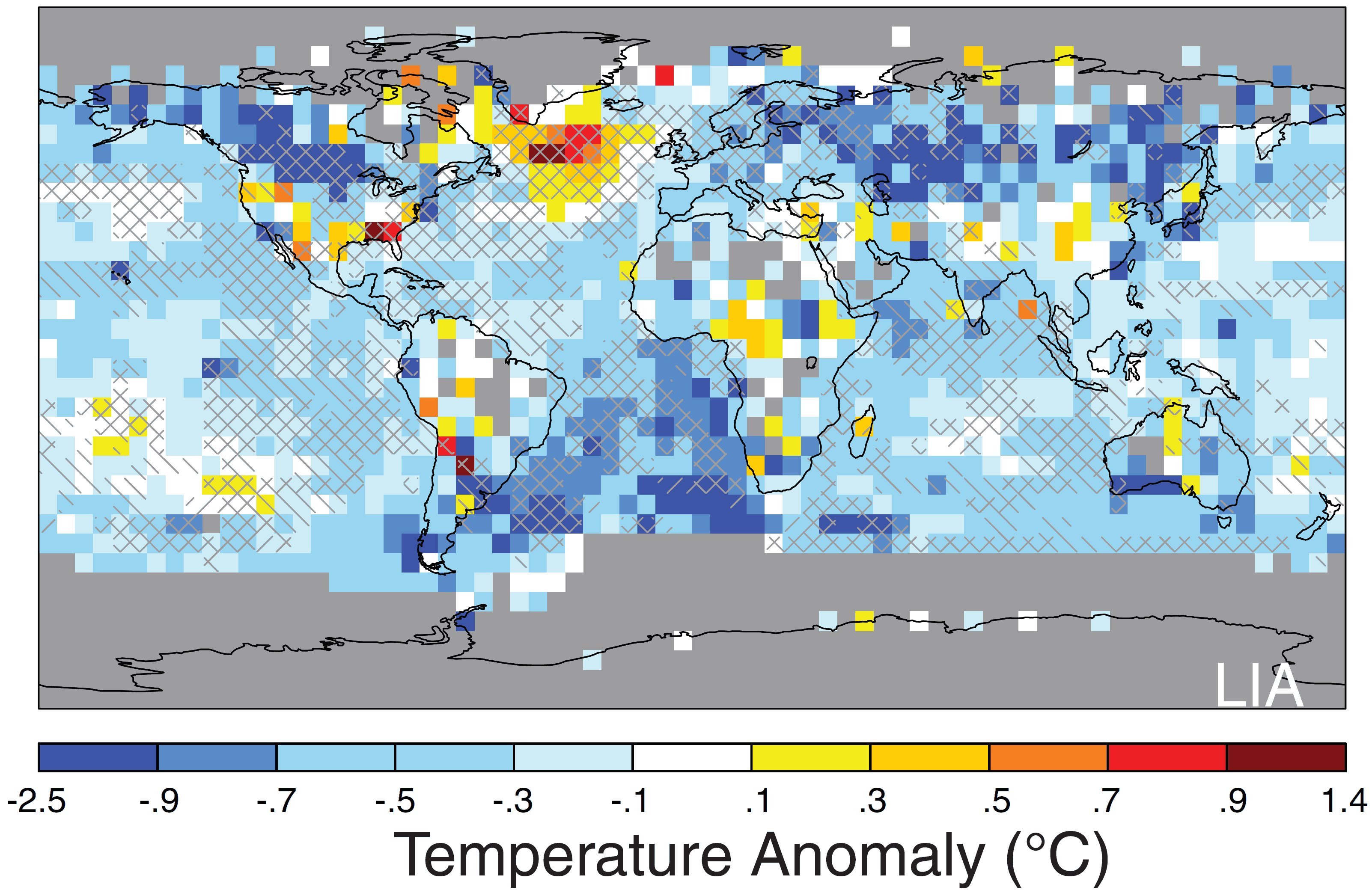 map world global average surface temperature change during little ice age 1400 1700