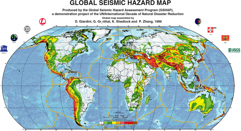 MAP - Global Seismic Hazard Map (GSHAP, 1999).jpg